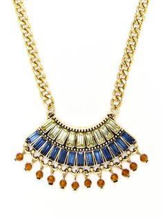 Leslie Danzis Fan Shape Necklace