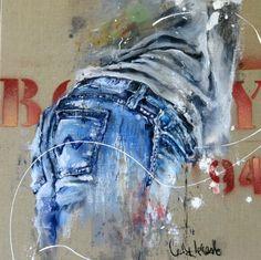 CECILE DESSERLE Jump N°3 Oil on canvas format 45x 45 cm   Cécile Desserle - Site Officiel