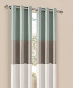 Look what I found on #zulily! Aqua Blue & Champagne South Park Curtain Panel - Set of Two #zulilyfinds