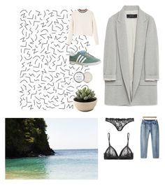 """Long Island iced tea pls"" by amsbullock on Polyvore featuring Zara, MANGO, Agent Provocateur, Samantha Chang, adidas and Herbivore"