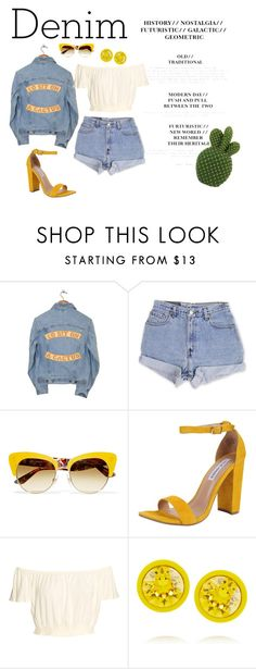 """Retro Denim"" by anna-martensson ❤ liked on Polyvore featuring Understated Leather, Levi's, Dolce&Gabbana, Steve Madden, Givenchy and Denimondenim"
