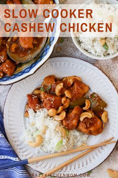 Slow Cooker Cashew Chicken Move over take-out! Slow Cooker Cashew Chicken is the new favorite in town. It's tender, tangy, sweet, and spicy. It has something for everyone. I promise this is one of the best recipes you'll make in your slow cooker all year. Brunch Recipes, Fall Recipes, Great Recipes, Breakfast Recipes, Weeknight Meals, Easy Meals, Slow Cooker Cashew Chicken, Healthy Food, Healthy Recipes