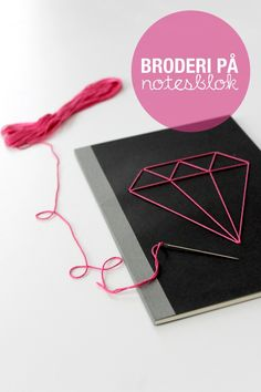 DIY: embroidered notebook cover