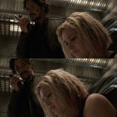He sure loves to look at Clarke.