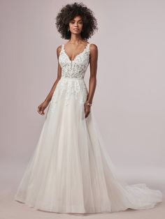 Wedding Dress Photos - Find the perfect wedding dress pictures and wedding gown photos at WeddingWire. Browse through thousands of photos of wedding dresses. A Line Bridal Gowns, Bridal Dresses, Wedding Gowns, Rose Wedding, Fall Wedding, Beach Dresses, Budget Wedding, Wedding Tips, Fairy Wedding Dress