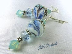 Me Missing the Sea  Aqua and Blue Lampwork by BZOriginals on Etsy, $18.95