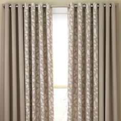 Possible choice for sliding door and breakfast nook--Cindy Crawford Style® Sonoma Grommet-Top Drapery Panels in sullivan khaki or taupe gray Home Curtains, Curtains Living, Curtains With Blinds, Kitchen Curtains, Window Curtains, Nursery Curtains, Room Window, New Living Room, Living Room Decor