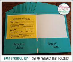 freebie - behavior/test sheet - set up weekly test folders