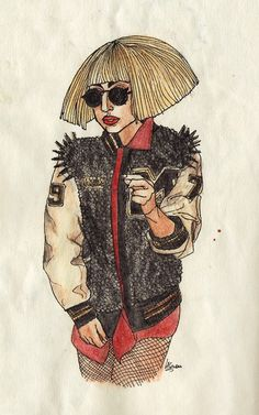 I still love this Gaga look, I had to draw it.