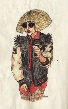 I still love this Gaga look, I had to draw it.