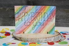 Handlettering inspiratie #4 - Verjaardagskaarten #happybirthdaycard #verjaardagskaart #handletteringcard Coasters, Birthday, Blog, Cards, Birthdays, Coaster, Blogging, Maps, Playing Cards