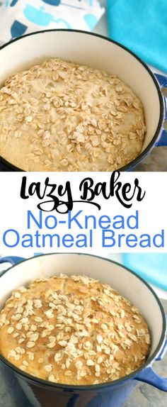 This No-Knead Oatmeal bread is amazing. Just mix the ingredients together and let it rest. Eight hours later, bake it off to golden brown perfection.