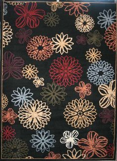 Now...this rug, only the background the color of the blue flowers and the blue flowers in chocolate brown... For living room...