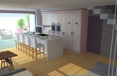 Appartement duplex avec terrasse on Behance Réalisé par Lauriane Bernard