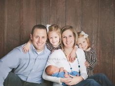 newborn baby boy and family picture