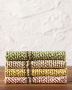 Knitted dish towels. So pretty and would make a good housewarming gift.