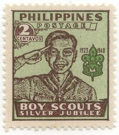 Philippines Stamp - Boy Scouts Silver Jubilee