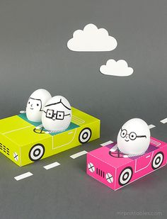 Egg People On The Road - Mr Printables