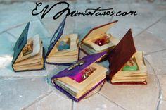 EV Miniatures: Miniature Open Books and Hidden Potion Books