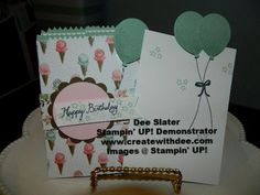Birthday Bouquet Designer Paper, Balloon Celebration, Balloon Bouquet Punch, Mini Treat Bag, Stampin' UP!