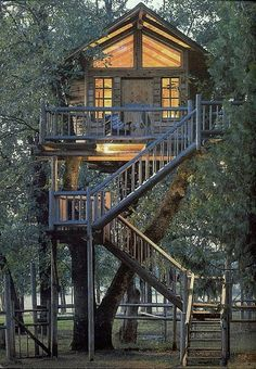 for the night you sleep in a cabin treehouse.