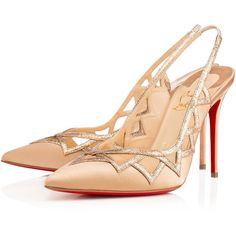 Stellare 100mm Nude Satin (28 795 UAH) ❤ liked on Polyvore featuring shoes, pumps, heels, louboutin, heel pump, sexy summer shoes, slingback shoes, nude heel shoes and summer shoes