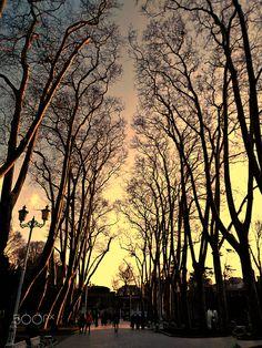Gülhane parkında gün batımı ....