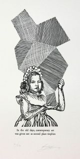 In the old days, contemporary art was given out as second place trophies by Robert Fenton Lino Cuts, The Old Days, Online Gallery, Lovers Art, Contemporary Art, Original Art, January, Old Things, Printed