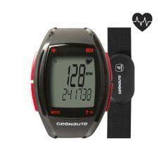 Horloge en gecodeerde hartslagband ONrhythm 410 rood