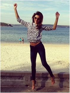 Miranda Kerr: Balmoral Beach, Sydney #celebrity #travel #vacation #blogs #blog #australia #beach #model