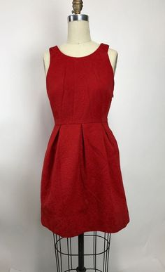 Anthropologie Red Moulinette Seours Brocade Vintage Style Cocktail Dress S Small #Anthropologie