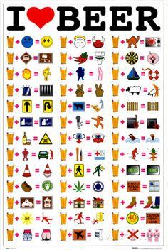 I Love Beer Pôsteres na AllPosters.com.br