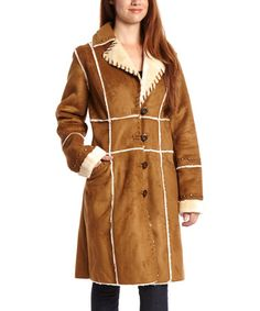 Love this Saddle Embellished Coat by Fleet Street on #zulily! #zulilyfinds