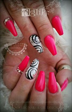 Acrylic Nails & Gel Design * Pink Mania ia  #acrylic #design #mania #nails Disney Acrylic Nails, Disney Nails, Summer Acrylic Nails, Acrylic Nail Art, Summer Nails, Nail Art Designs, Gel Designs, Acrylic Nail Designs, Quotes Glitter