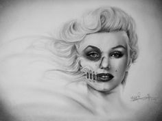 Marilyn Monroe Art Print by Kit King Marilyn Monroe Drawing, Marilyn Monroe Artwork, Marilyn Monroe Tattoo, Dope Tattoos, Pin Up Tattoos, Gold Tattoo, I Tattoo, Libra Tattoo, Tattoo Quotes