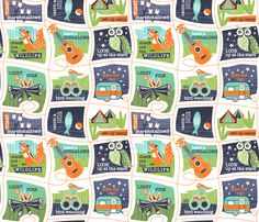 We love to go camping fabric by cjldesigns on Spoonflower - custom fabric