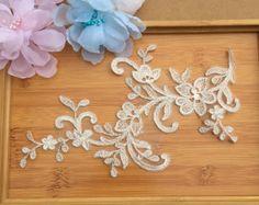 Neu Verkaufen von Hof Alencon Lace Trim Stickerei Ivory