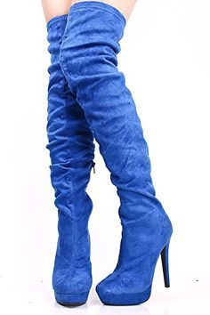 Onlymaker Ladies Women's High Heel Fashion Over Knee Boots Round Toe Shoes Handmade For Wedding Party Dress Shoes Suede Blue US 5 onlymaker http://www.amazon.com/dp/B00NQTNSM4/ref=cm_sw_r_pi_dp_O3l3vb1YE4WSC