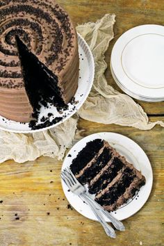 Classic chocolate layer cake: http://www.stylemepretty.com/living/2017/02/07/best-chocolate-dessert-recipe/ Photography: Cacao Sweets and Treats - http://cacaosweetsandtreats.com/