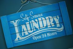 Easy DIY Distressed Laundry Sign