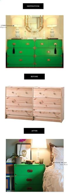 One day we will paint our campaign dressers... // FUJI FILES: DIY FILES:: CAMPAIGN DRESSER IKEA HACK