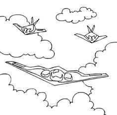 stealth bomber coloring pages - photo#41