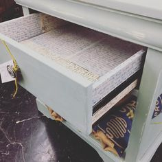 Sometimes you just have to take an old yucky drawer and line it with something great like old letters! #letters #loveletters #memoriesinadrawer #drawer #diy #mwmerchantabilenetexas #abilenetx #texas #abilene #sendmealetter #writinglife @rustandrosesabilenetx  #rustandrosesabilenetx