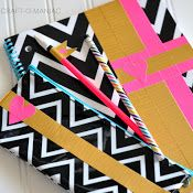 Embellished School Supplies using Duck Tape®