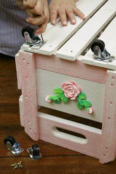 Caixote de feira reciclado - Portal de Artesanato - O melhor site de artesanato com passo a passo gratuito