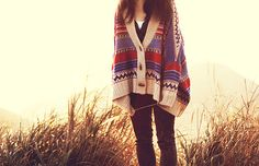 love the oversized printed sweater!