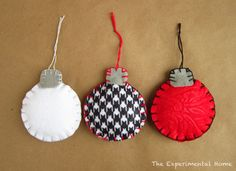 Felt Christmas Ornaments: a video tutorial