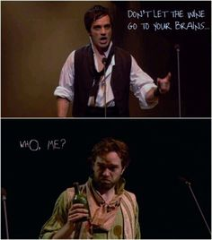 Obviously Enjolras is the best person in Les Miserables. Ramin Karimloo and Hadley Fraser as Enjolras and Grantaire in Les Miserables 25th! It's funny how they were also Phantom and Raoul. :D
