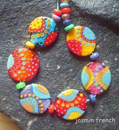 jasmin french ' siddhartha ' lampwork focal by jasminfrench