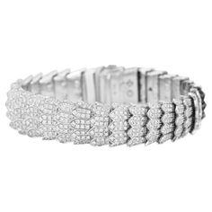 ROBERTO COIN Diamond White Gold Bracelet